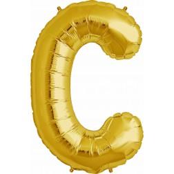 Air Folienballon Buchstabe C gold 41cm