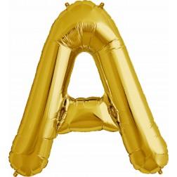 Air Folienballon Buchstabe A Gold 41cm