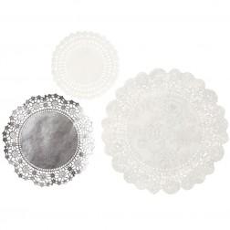 Tortenspitzen Silber 24 Stück
