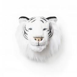 Plüsch Tierkopf Trophäe weißer Tiger Albert