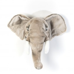 Plüsch Tierkopf Trophäe Elefant George