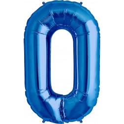 Air Folienballon Symbol 0 blau 41cm