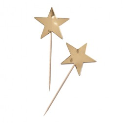 Toppers Metallic Stern gold 10 Stück