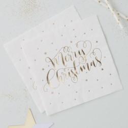 Servietten Merry Christmas gold 20 Stück