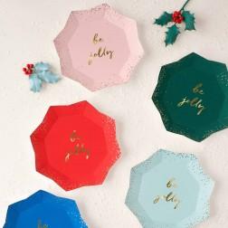 Pappteller Glitter Multicolor be jolly 8 Stück
