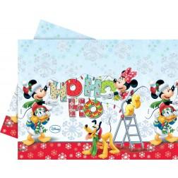 Tischdecke Mickey Christmas Ho Ho Ho 180cm