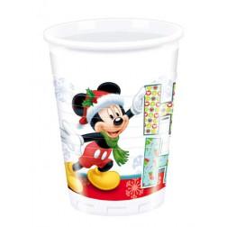 Becher Mickey Christmas Ho Ho Ho 8 Stück