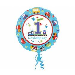 Folienballon 1th Birthday Boy 43cm