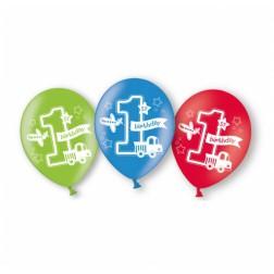 Luftballons 1th Birthday Boy 6 Stück