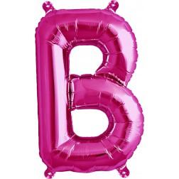 Air Folienballon Buchstabe B magenta 41cm