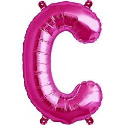 Air Folienballon Buchstabe C magenta 41cm