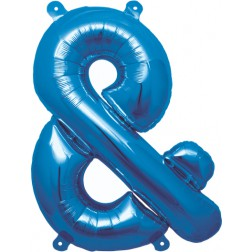 Air Folienballon Symbol & blau 41cm