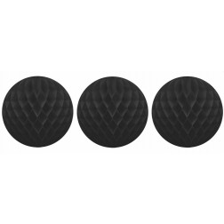 3 Wabenbälle schwarz 15cm