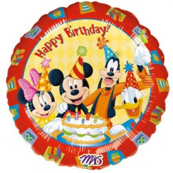 Folienballon Mickey Mouse Happy Birthday 43cm