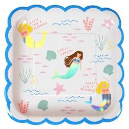 Pappteller Meerjungfrau 8 Stück