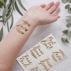 Tattoos Rose Gold Wedding Beautiful Botanics 12 Stück