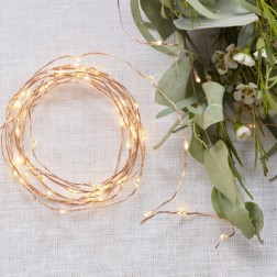 Rose Gold LED String Table Lights 3m