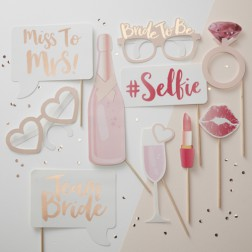 Photo Booth Props Team Bride 10 Props