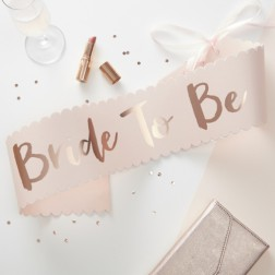 Schärpe Pink Rose Gold Bride To Be Sash Team Bride