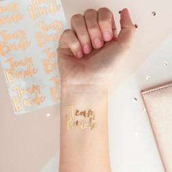Tattoos Rose Gold Temporary Team Bride 16 Stück