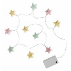 Lichterkette mini Sternen Pastel 1,1m