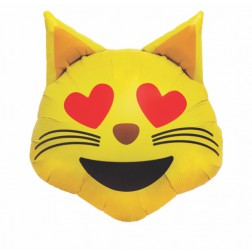 Folienballon Emoji Cat 56cm