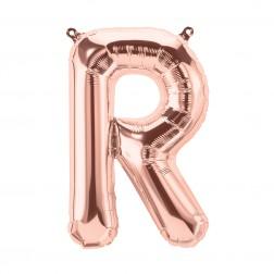 Air Folienballon Buchstabe R rosegold 34cm