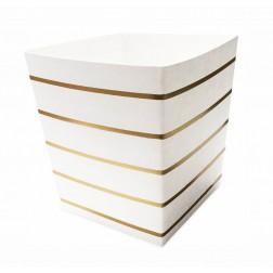 5 Food Cups gold gestreift 400ml