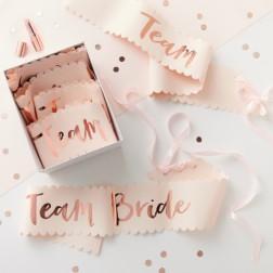 Schärpe Team Bride 6 Stück
