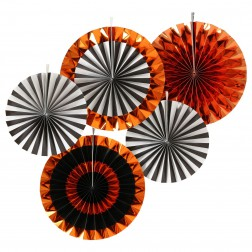 Fächer Orange mix 5 Stück