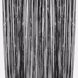 Lametta Vorhang Curtain black 91 x 244cm