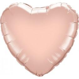 Folienballon Jumbo Herz rosegold 90cm