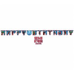 Avengers Happy Birthday Banner 1,7m