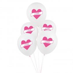 Luftballons LOVE 5 Stück