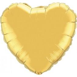 Folienballon Herz Jumbo Gold 90cm