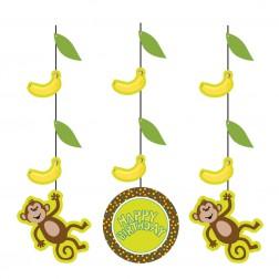 Monkey - 3 Hängende Deko