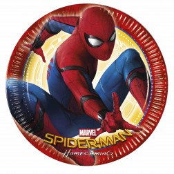 Pappteller Ultimate Spiderman Power 8 Stück