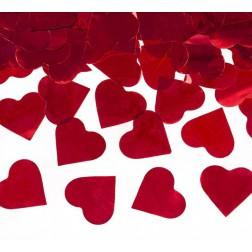 Konfettikanone Herz rot 40cm