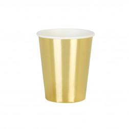 Pappbecher Metallic gold 8 Stück