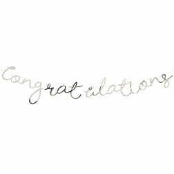 Girlande Congratulation gold 1,5m