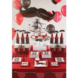Partybox für 8 Gäste Mustache Party