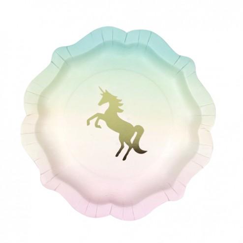 We Love Unicorns Pappteller 12 Stück