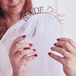 Bride To Be Hen Party Haarreif mit Schleier