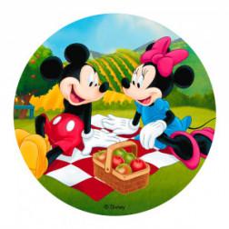 Tortenaufleger Mickey Minnie 20cm