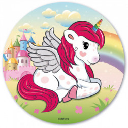 Tortenaufleger Oblate Unicorn 20cm