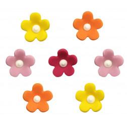 Zuckerdekor Blumen 7 Stück