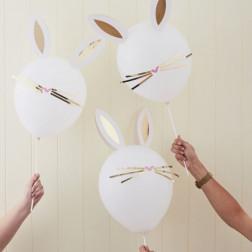 Luftballons Easter Bunny 5 Stück