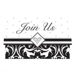 Einladungskarten Black & White Party 8Stück