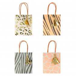 Safari Animal Print Party Bags 8 Stück
