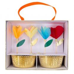 Cupcake Bright Floral 48er Set